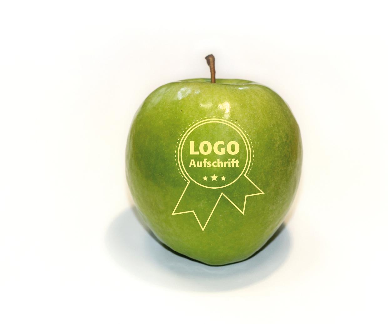 Lasergestanzter Apfel, grün